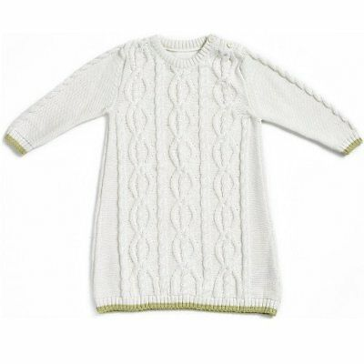 Natures Purest Kids Cable Knit Dress 12 Months  (0173B)