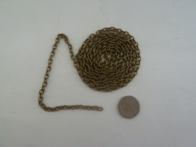 2 mtrs of 6mm x 4mm brass colour  chain