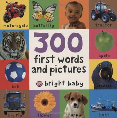 300 FIRST WORDS AND PICTURES (BRIGHT BABY) By Roger Priddy *Excellent Condition*