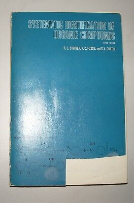 Systematic Identification of Organic Compounds - A Laboratory Manual 1966