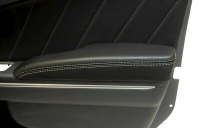 Door Armrest Leather Synthetic Cover for Dodge Charger 11-19 Beige Stitch