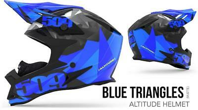 509 Snow Products Altitude Snow Helmet Blue Triangles (SIZE XS, 2XL)