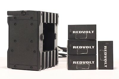 Red Digital Cinema Redvolt 4-Pack with Quad Charger and Hardcase