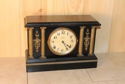 "Antique Ingraham 8 Day Gonging Mantle Clock *Serviced* ""Bonanza"" Model"