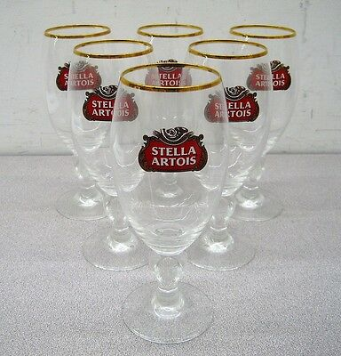 Stella Artois Chalice 40 CL Set of 6 Six Glasses 600 Years Stamp (Brand New)