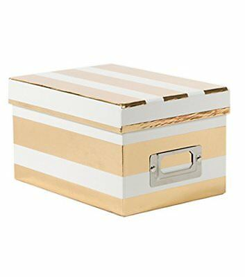 American Crafts Mini Boxes Gold Thick Stripes White Die Cuts with a View