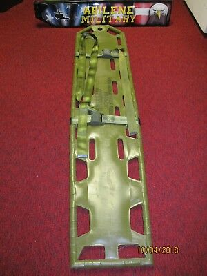 North American Rescue Spine Board with Straps  Military Issue