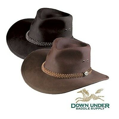 (XLarge, Brown) - Down Under Australian Oilskin Hat. Down Under Saddle Supply
