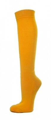 (Medium, Golden Yellow) - COUVER Premium Quality Knee High Sports Athletic