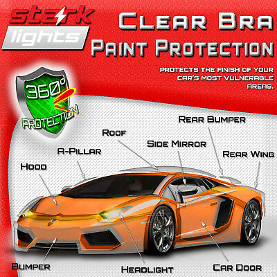 3M SCOTCHGARD HOOD Bumper Paint Protection Bra Clear Film