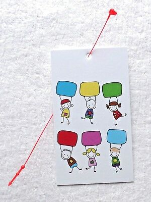 100 hang tags retail tags cute girl 5 boutique tags price tags w