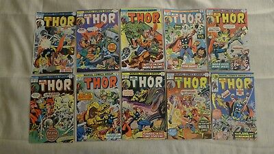The Mighty Thor 236 - 274 Hugh Lot (18 Issues)