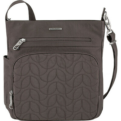 Travelon Anti-Theft Quilted North South Crossbody Cross-Body Bag NEW