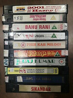Old Bollywood Video Indian Hindi Movie Film Vhs Cassette Joblot - Classic Title