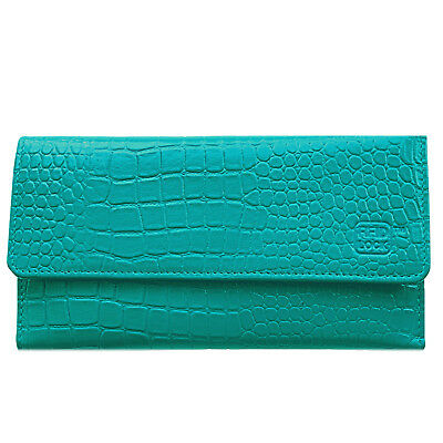 Leather Trifold Wallet For Women's With Removable Checkbook Holder RFID Blocking