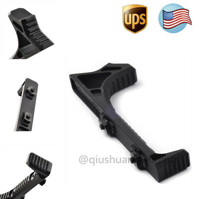 US LINK Curved Angled Fore Grip Fits M-LOK Rails Handguards Rail Black Hunting