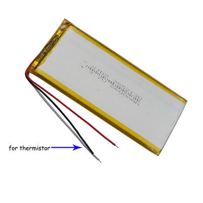 3.7V 2600mAh Polymer Li battery Lipo thermistor 3 wire For GPS tablet PC 3552130