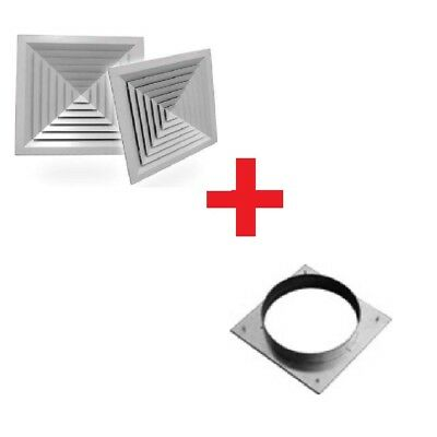 DUCT SQUARE 4 WAY LAY-IN CELILING AIR DIFFUSER WITH ADAPTOR   Mode:LD4 245x245mm
