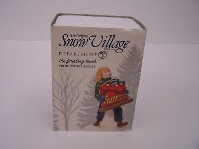 "Dept 56  Snow Village - ""THE FINISHING TOUCH""    Accessory"