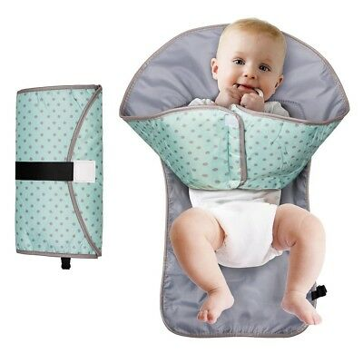 Baby Diaper Clutch Changing Station Diaper Portable Clean Changing Pad 3-in-1