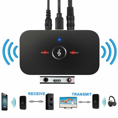 Wireless Bluetooth Stereo Audio Music Receiver & Transmitter 2-In-1 Adapter AUX