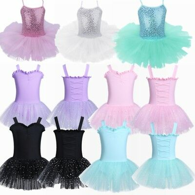Toddler Kid Girls Ballet Dress Tutu Leotard Dancewear Gymnastics Unitard Outfits