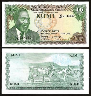 KENYA 10 Shillings 1978 - UNC - Pick 16