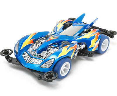 TAMIYA 95329 Mini 4WD Racer Limited 1/32 Spin Viper Pearl Blue Special RACE CAR