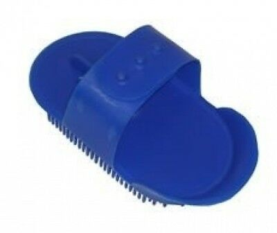 (Blue) - Small Childs Plastic Curry Comb, Colours Available: Red, Blue, Pink,