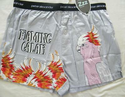Peter Alexander Mens Flaming Galah Boxer Short Sz  L NWT