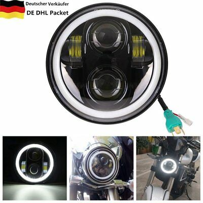 5.75 inch Led headlight halo Ring white DRL Angel eye For Harley Sportster