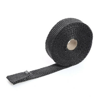 CAR EXHAUST HEAT WRAP 15M X 50MM ROLL+10 STAINLESS TIES High Quality-BRAND NEW