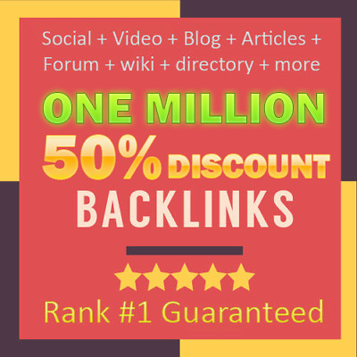 Be #1 with 1000.000 up to PR9 TOP QUALITY SEO backlinks