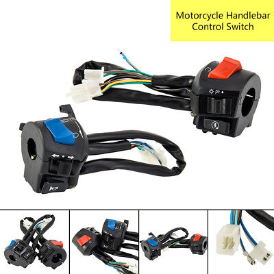 2Pcs Universal 7/8'' Motorcycle Handlebar Switch Horn Turn Signal Light Control
