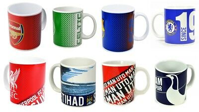 Football Club Mugs Official Cups Coffee Tea Cups Arsenal Liverpool Chelsea Spurs