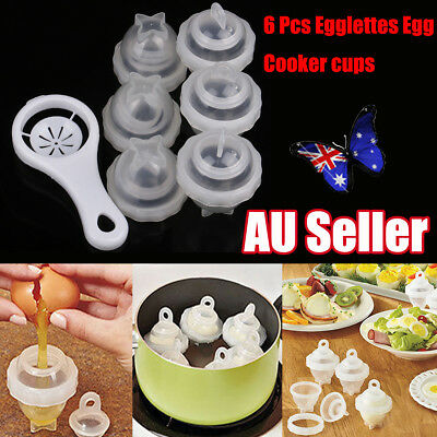 lettes Egg Cooker Hard Boiled Eggs without the Shell 6 Pcs Cups As Seen On TV