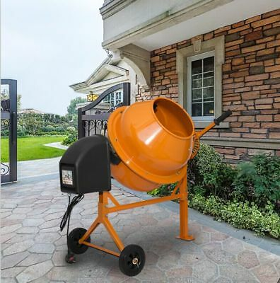 70L Drum 250W Large Professional Portable Electric Concrete Cement Mixer UK