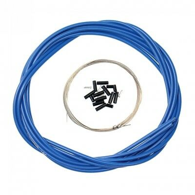 (Blue) - Aulola® Front and Rear Inner Outer Wire Gear Brake Cable Set