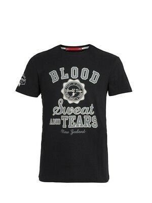 (Large, Z78 Black) - Front Up Rugby Men's Blood Sweat and Tears T-Shirt