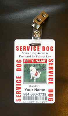 Service Dog ID Card for Working Dog ID Badge Service Animal Custom Certified 5