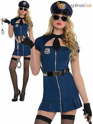 8-22 Ladies Sexy Cop Costume Adult Police Woman Fancy Dress WPC Uniform Outfit