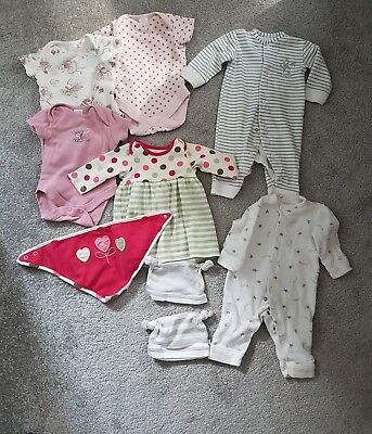 Baby girl clothes newborn (Up to 1 month) bundle Next M&S  FAST POSTAGE