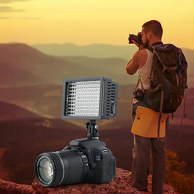 160 LED Studio Video Light For Canon Camera DV Camcorder Photography lc