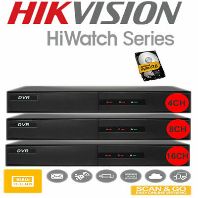 HIKVISION DVR Recorder 4-8-16 Channel Home Security System Hiwatch UK Spec Stock