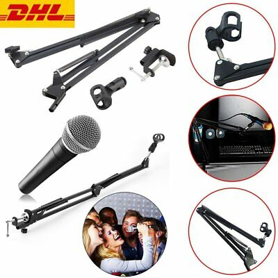 Mic Microphone Suspension Boom Scissor Arm Stand Holder for Studio Broadcast yy