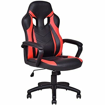 Executive Gaming Chair PU Leather High Back Bucket Seat Racing Computer Desk