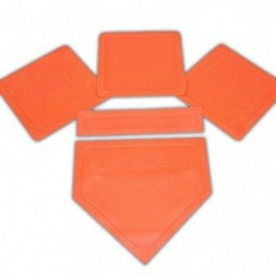Orange Throw Down Bases-5 Piece Sold Per SET. SSG. Free Shipping
