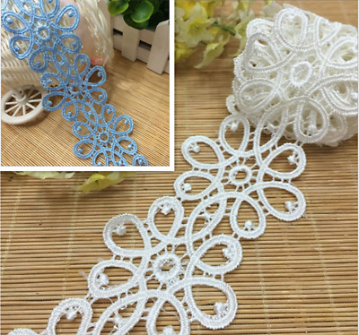 1yard Lace Trim Ribbon For Wedding Dress Veil Embroidered DIY Sewing Craft  A110