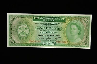 1976 Government of Belize One Dollar CU /S2