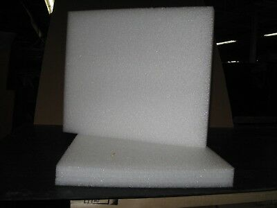 """10 Sheets - 21.75"""" x 18.5"""" x 2"""" White PE Closed Cell Foam Plank, 2# Density"""